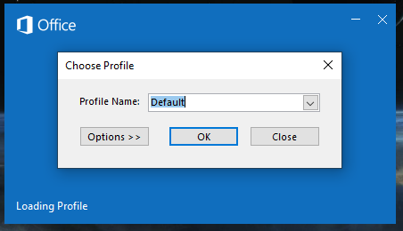 Select the profile you would like to open.