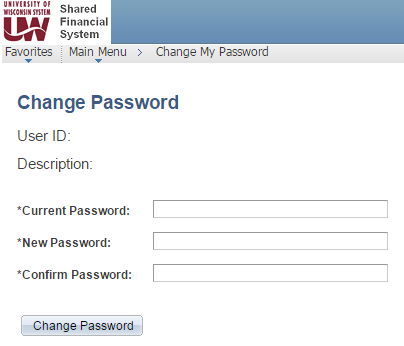 Change My Password Page