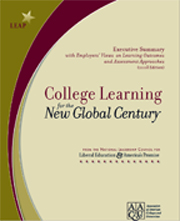 cover page of the College Learning for New Global Century