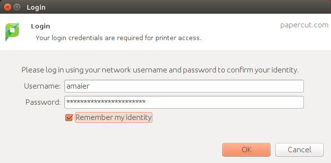 sign in with discovery account to papercut