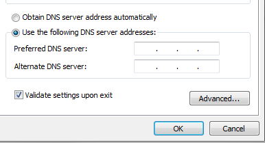 Use your own DNS settings