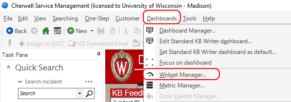 Accessing Widget Manager