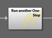 Example of the Run Another One-Step step in the Cherwell Editor