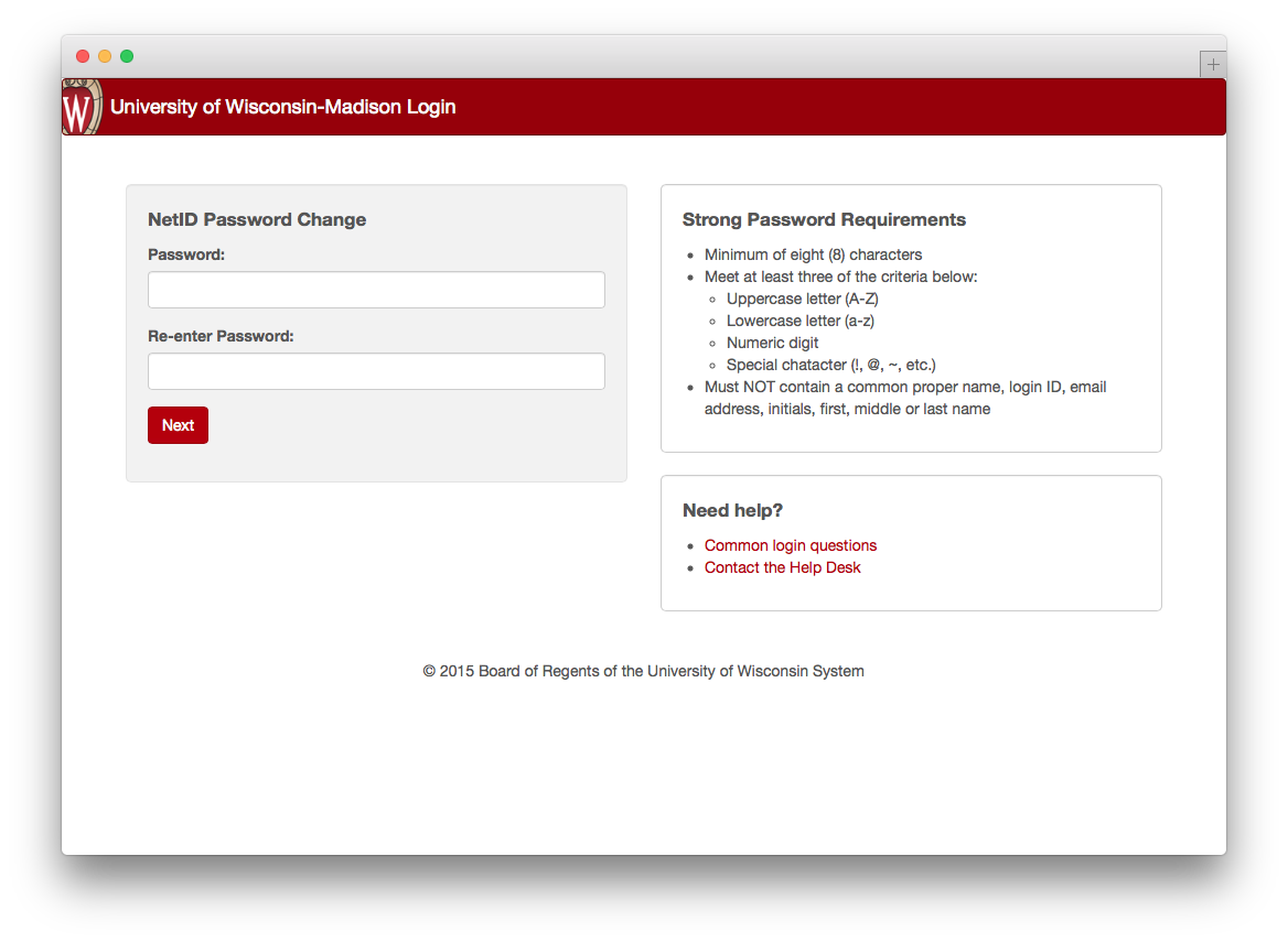 password reset new password