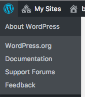 wordpress icon expanded