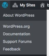 wordpress icon expanded