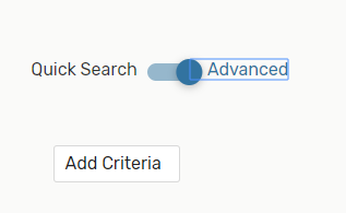 Image: Use the toggle to switch to Advanced Search mode.