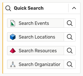 Image: The Quick Search widget on your home dashboard provides a fast way to search for keywords.