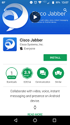 image of cisco jabber app in google play store