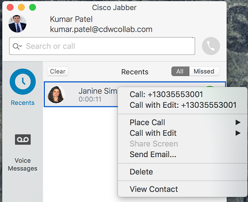 Mac voicemail options