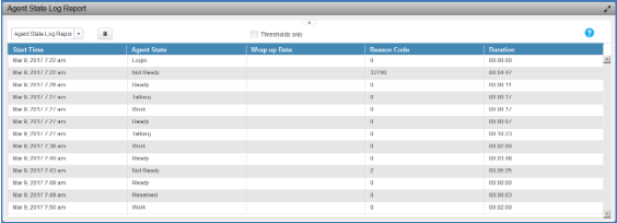image showing the state agent log report