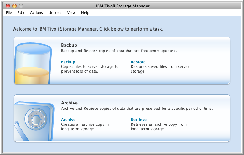 storage manager window
