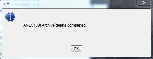 Deletion complete.