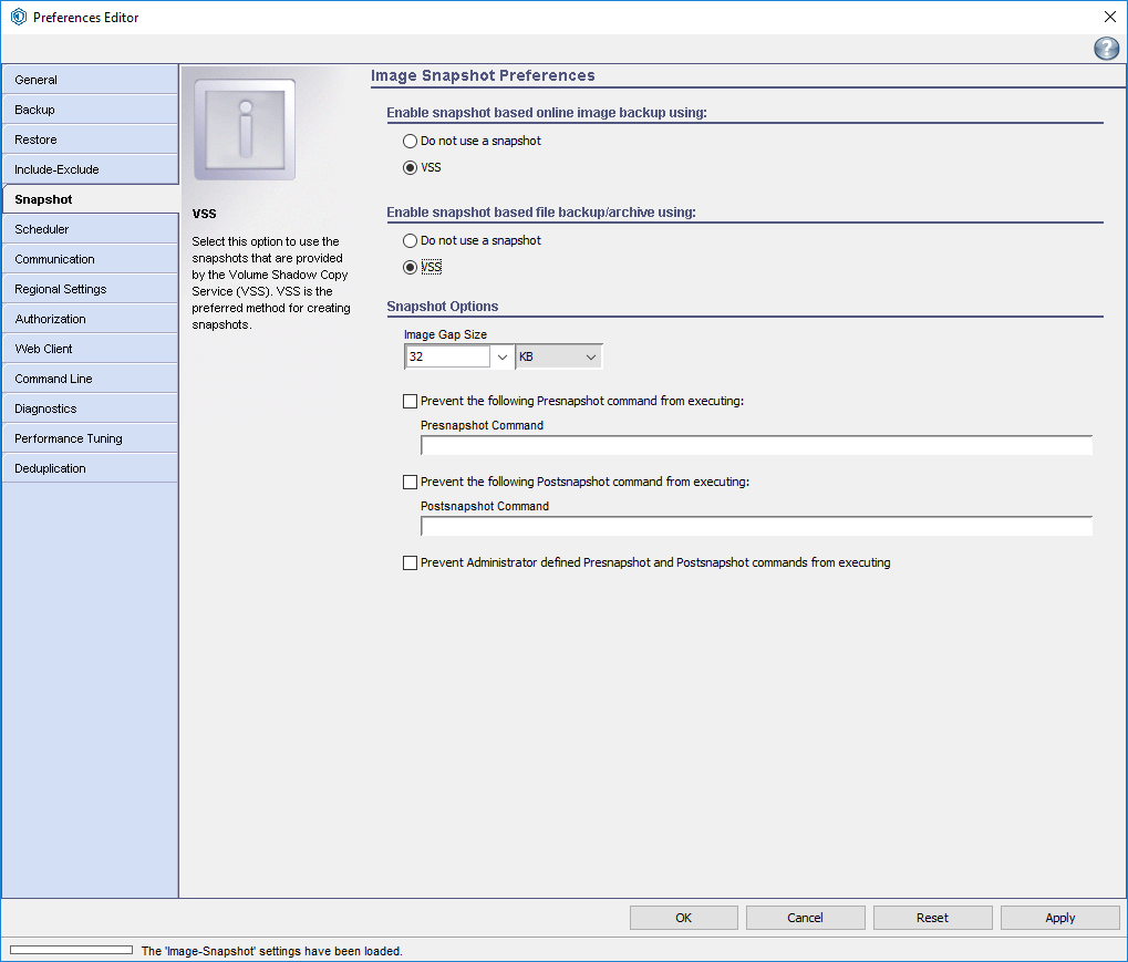 Bucky Backup - Client Configuration for Windows