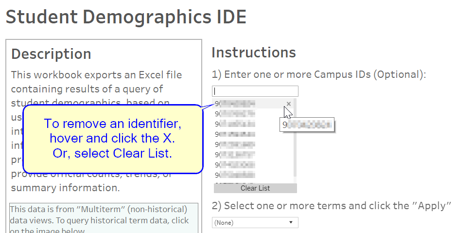 Tip for Removing Identifiers