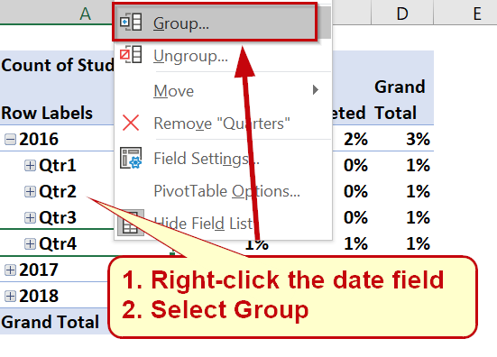 Grouping Date Fields