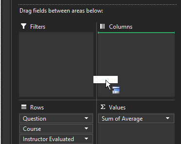 Drag Question into Columns