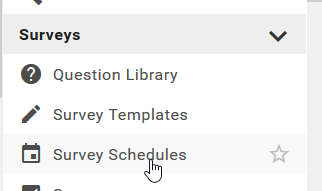 Survey Schedules