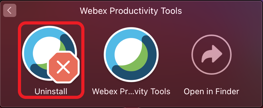 Webex Productivity Tools Uninstall - Productivity Tools Folder