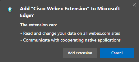 Add Extension Prompt