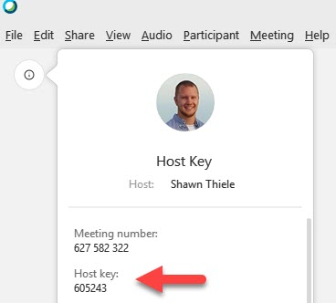 Host Key in Meeting