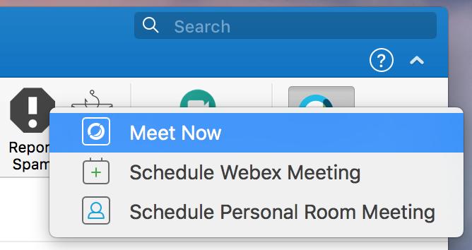 Selecting Schedule Webex Meeting