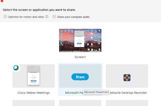 Sharing laptop screen to tv display