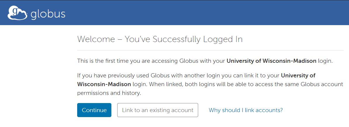 Globus Link Account