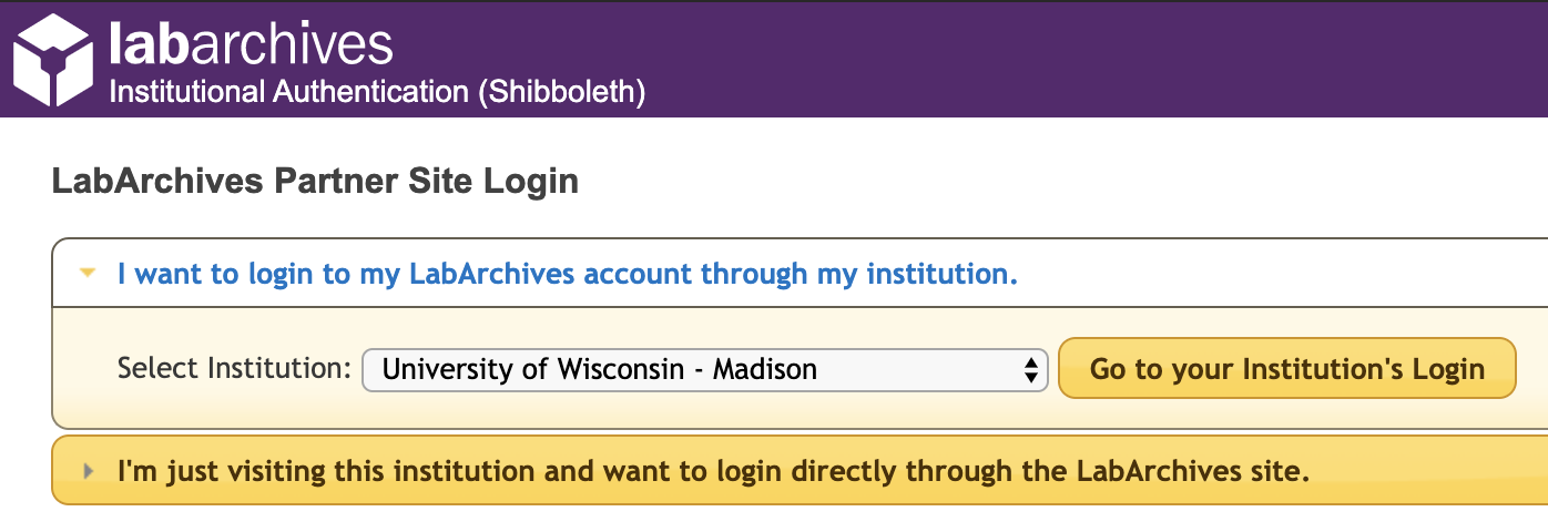 UW-Madison login screen