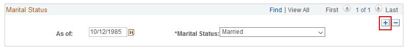Marital Status Add a Row