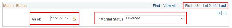 Marital Status Change