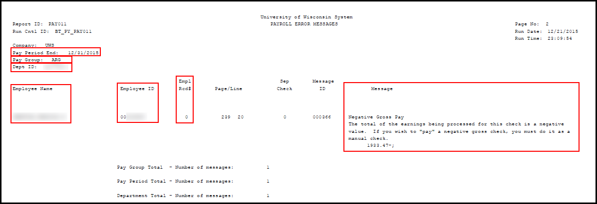 Error Example - Negative Gross Pay
