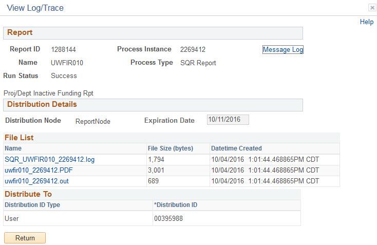 9.2 proj dept inactive report view trace