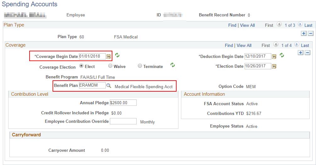 FSA Medical Enrollment