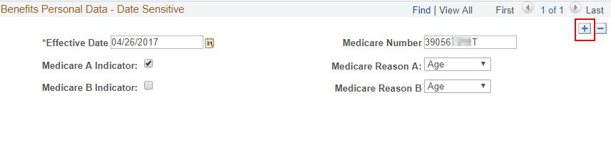 Medicare add a row