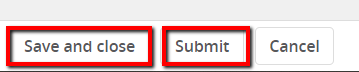 "Select ""Submit"" or ""Submit & Exit"" to start the approval process"