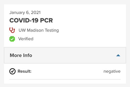 Negative COVID-19 PCR Test result dated January 19, 2021