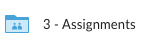 Assignments folder