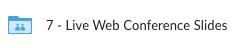 Live Web Conference Slides folder