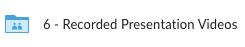 Recorded Presentation Videos folder