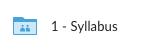 Syllabus folder