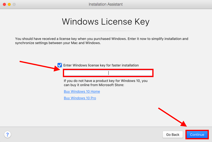 Image unavailable, shows where to put in the license key