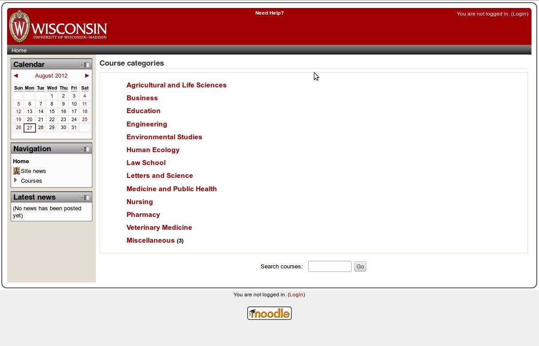 Moodle webpage