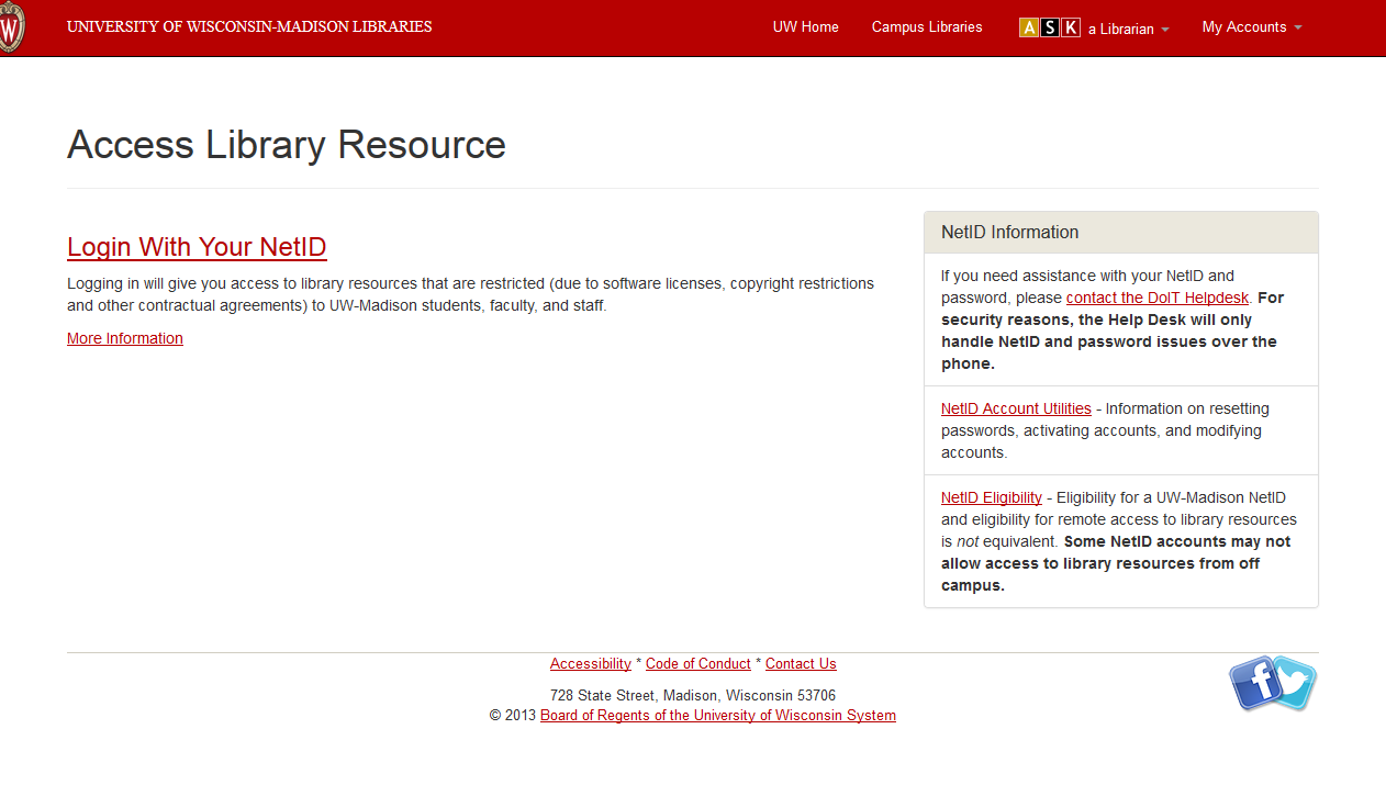 Library - Remote Access to Library Resources