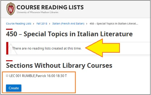 Course Without Reading List