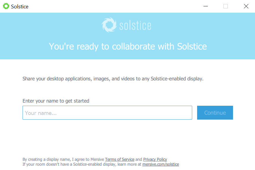 Solstice application setup