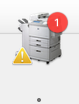 bouncing printer icon