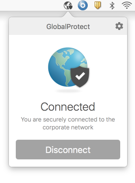 GlobalProtect is connected