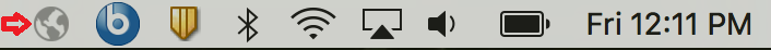 GlobalProtect icon in the menu bar