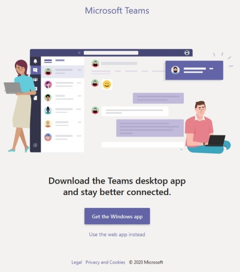 MS Teams Download Page